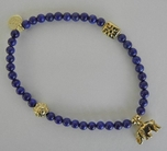 Good Charma Lapis Ball Bracelet Elephant Charm