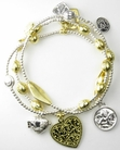 Good Charma Mini Lucky Silver Gold Charm Bracelet