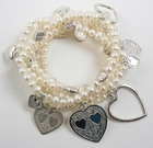 Good Charma Pearl Love Bracelets - Set of 6