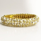 Kenneth Jay Lane Clear Crystal Gold Bracelet