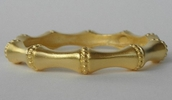 Kenneth Jay Lane Gold Vermeil Bamboo Bangle Bracelet