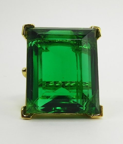 kenneth large emerald green cocktail ring
