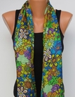 Tolani Daisy Yellow Multi Silk  Scarf Shawl