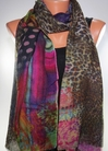 Tolani Digital Green Scarf Wrap