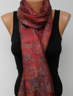Tolani Collection Supersilk Red Scarf