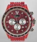 VaBene Chronograph Red Crystal Watch