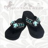 Montana West Turquoise Cross Flip Flops CD-S008S1