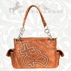 Montana West Tooled Hat and Cross Purses CSH-8085