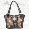 Montana West Buckle Cross Concho Camo Handbag HFO-8005