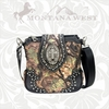 Montana West Buckle Cross Concho Camo Messenger Bag HFO-8295