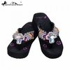 Montana West Crystal Cross Concho Flip Flops AH-S008