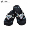 Montana West Crystal Cross Concho Flip Flops AI-S008