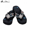 Montana West Diamond Flower Concho Flip Flops AC-S002