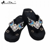 Montana West Diamond Flower Concho Flip Flops AB-S002