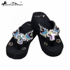 Montana West Diamond Flower Concho Flip Flops AB-S008
