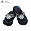 Montana West Diamond Flower Concho Flip Flops AC-S001