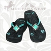 Montana West Flip Flops - Turquoise Diamond TQ-S002S BACK IN STOCK