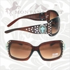 Montana West Sunglasses with Turquoise Cross Square Frame SGS-001S OUT OF STOCK