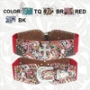 Montana West Western Paisley Cross Stretch Belts CIB-B1213 Red