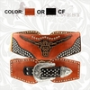 Montana West Western Longhorn Stretch Belts CIB-B1205 Orange