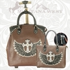 Montana West Winged Cross Luggage WIG-L004