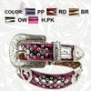 Montana West Zebra Belt Hearts and Cross ZR-B001HC Various Colors