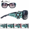 Montana West Cross with Turquoise Stone Sunglasses SGS-0125