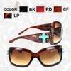 Turquoise Cross Square Frame Sunglasses SGS-01008WS
