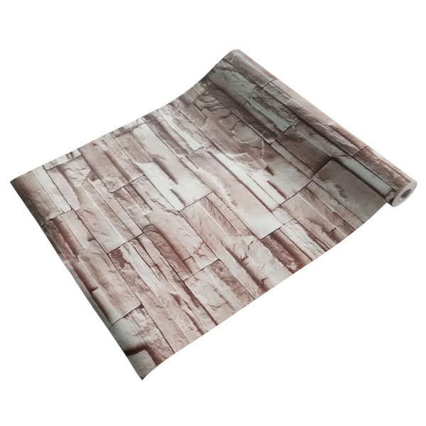 brick wood self adhesive wallpaper home decor roll
