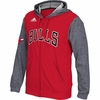 Bulls Adidas Pregame Full Zip Up Hoodie