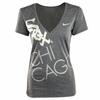 White Sox Women's Deep V Chicago Tee - Gray