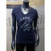 White Sox Women's V-Neck Big Logo Tee - Navy
