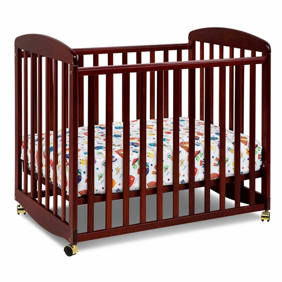 Alpha Cherry Mini Rocking Crib by DaVinci - Click to enlarge