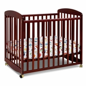 Alpha Cherry Mini Rocking Crib by DaVinci