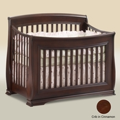Bella Cinnamon 5 in 1 Convertible Crib by Natart