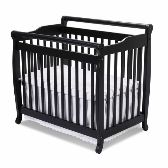 Emily Ebony Mini 2 in 1 Convertible Crib by DaVinci - Click to enlarge