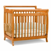 Emily Honey Oak Mini 2 in 1 Convertible Crib by DaVinci