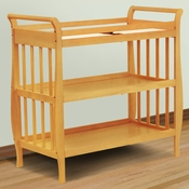 Emily Honey Oak Sleigh Changing Table by DaVinci