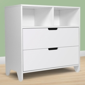 Hiya White 2 Drawer Dresser by Spot On Square