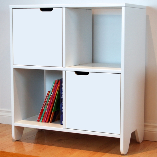 Hiya White Bookshelf by Spot On Square - Click to enlarge