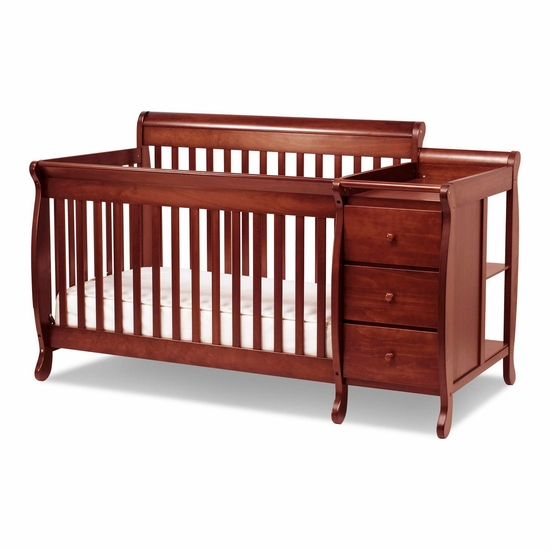 Kalani Cherry 3 in 1 Convertible Crib and Changer Combo by DaVinci - Click to enlarge
