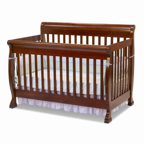 Kalani Cherry 4 in 1 Convertible Crib by DaVinci - Click to enlarge