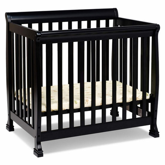 Kalani Ebony Mini Crib by DaVinci - Click to enlarge