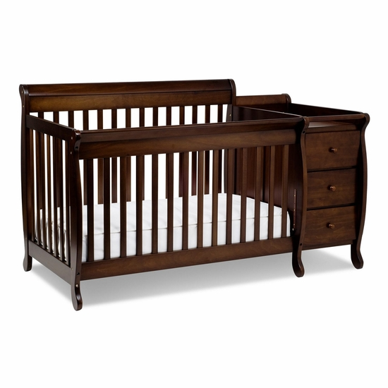 Kalani Espresso 3 in 1 Convertible Crib and Changer Combo by DaVinci - Click to enlarge