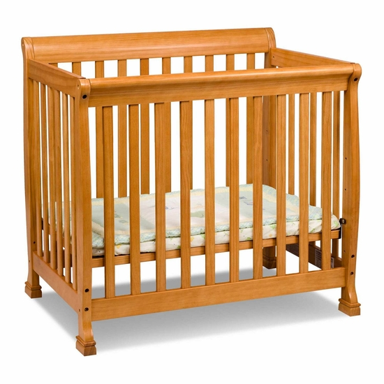 Kalani Honey Oak Mini Crib by DaVinci - Click to enlarge