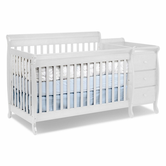 Kalani White 3 in 1 Convertible Crib and Changer Combo by DaVinci - Click to enlarge