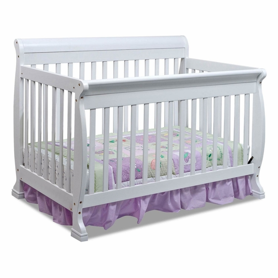 Kalani White 4 in 1 Convertible Crib by DaVinci - Click to enlarge