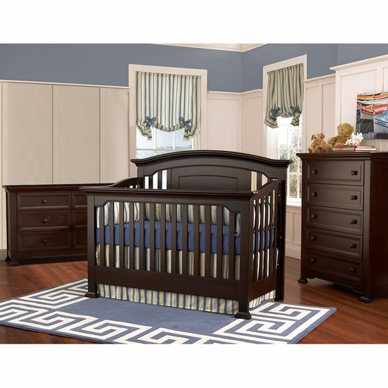 Medford 3 Piece Nursery Set in Espresso - Lifetime Crib, Double Dresser and 5 Drawer Chest by Munire - Click to enlarge