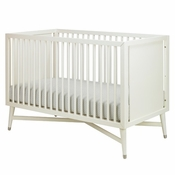 Mid-Century French White Crib by DwellStudio