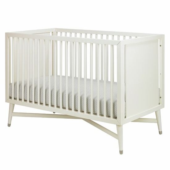 Mid-Century French White Crib by DwellStudio - Click to enlarge